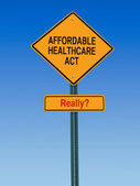 Affordable healthcare act really sign — Stock Photo
