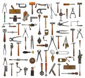 Vintage tools collage — Stock Photo