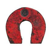 Vintage horseshoe magnet — Stock Photo