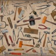 Vintage tools mix collage — Stockfoto #40535081