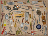 Vintage kitchen utensils collage — Stock Photo