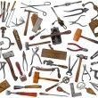 Vintage tools mix collage on white — Stock Photo #43002449