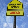 Monimum wage increase ahead — Stock Photo #43506285