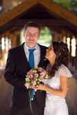 Portrait of young newlyweds — Stock Photo