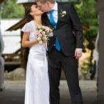 Beautiful couple kissing — Stock Photo #13375257