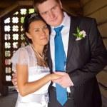 Happy bride and groom — Stock Photo #13375286
