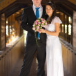 Portrait of newlyweds — Stock Photo #17988601