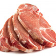 Stock Photo: Uncooked pork chops