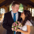 Young newlyweds — Stock Photo