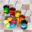 Coloring eggs for Easter holiday - Stock Photo