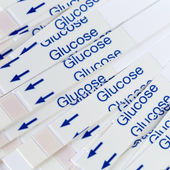 Indicator Strips For Blood Glucose Testing — Stock Photo