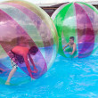Water Zorbing — Stock Photo