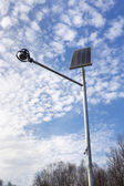 Stand-alone street light with solar battery — 图库照片