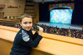 Boy in theater — Stock Photo