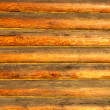 Wall of log cabin — Stock Photo