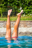 Legs in a swimming pool — Stock Photo