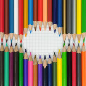 Color pencils forming a frame — Stock Photo