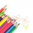 Colored Pencils On Child — Stock Photo #17865755