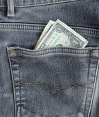 One dollars banknote in a pocket. — Stock Photo