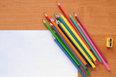 White blank with pencils — Stock Photo