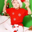 Boy Santa Claus — Stock Photo