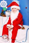 Boy Santa Claus — Stock Photo