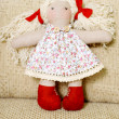 Handmade doll — Stock Photo