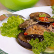 Stewed eggplant — Stock Photo