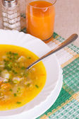 Soup in a bowl — Stock Photo
