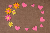Valentine Concept on sacking — Stock Photo
