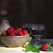 Stock Photo: Still life with strawberries