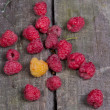 Ripe tasty raspberries — Stock Photo #27216745