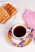 Wafels en thee — Stockfoto