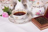Antique tea set — Stock Photo