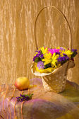 Still life with colorful fresh flowers — Stock Photo