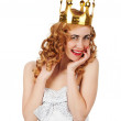 Woman in crown — Stock Photo