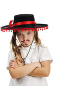 Little girl in a Mexican sombrero — Stock Photo