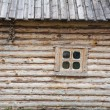 Wooden house and a window — Stock Photo
