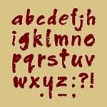 ABC handmade lowercase — Stock Vector