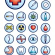 Stock Vector: Medicine icons