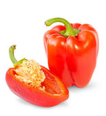 Red sweet peppers — Stock Photo