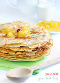 Pancakes on a plate — Stock Photo
