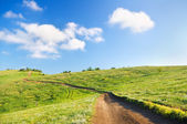 Road passing on a slope of mountain — Stock Photo