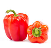 Two red sweet peppers — Zdjęcie stockowe