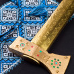 Handmade cross-stitch ethnic Ukraine pattern — Stock Photo