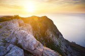Sunset in hight mountains.  — Stock Photo