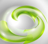 Abstract background with green swirl — Stock Vector