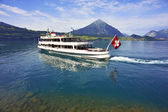 Passenger cruise boat, Lake Thun, Switzerland — Stock Photo