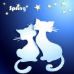 Happy cats in love — Stock Vector
