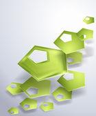 Geometrik şekiller vektör üzerinden küçük bir desen ile şık arka plan — Stockvector